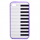 Stylish Piano Style Soft Silicone Case for Iphone 4 / 4S - Purple