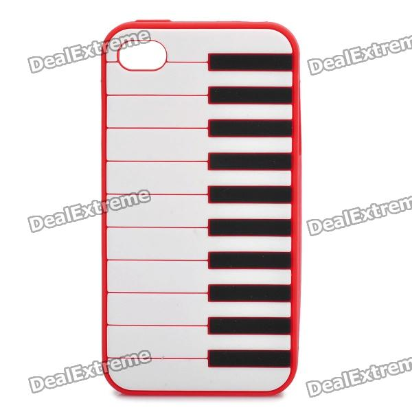 Stylish Piano Style Soft Silicone Case for Iphone 4 / 4S - Red  lussole подвесной светильник loft lsp 9867