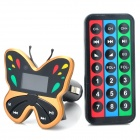 "Butterfly Style 1.1"" LCD Car MP3 Player FM Transmitter w/ USB / SD / TF - Brown (12~24V)"