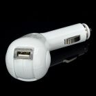 Car Cigarette Powered Rotatable Charging Adapter Charger for Iphone / Ipod / Cell Phone - White