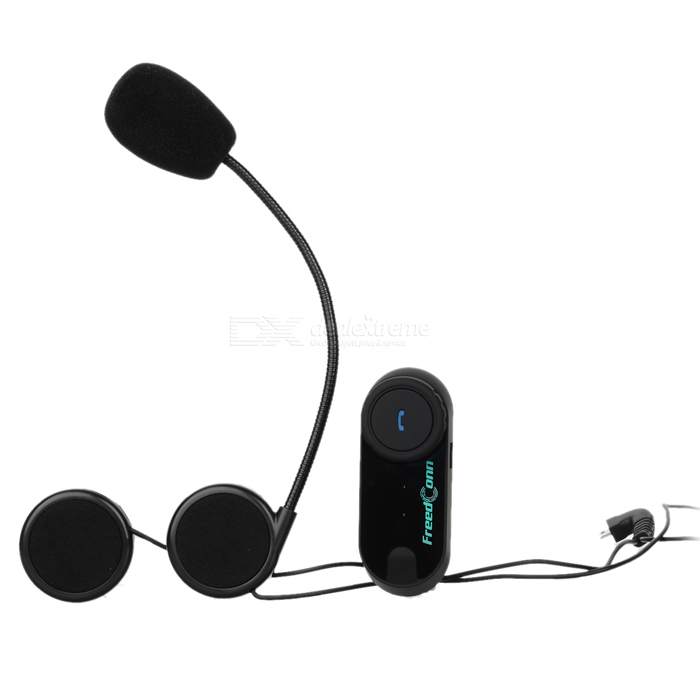 Motorcycle BT Interphone + Handsfree Bluetooth V2.1 Set - Black (800m)