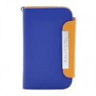 KALAIDENG Protective PU Leather Flip-Open Case for Blackberry 9360 - Orange + Blue