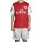 New Season Arsenal Football Team Jersey Shirt & Shorts Set - Red + White (Size M)