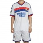 Lyon Football Team Jersey Shirt & Shorts Set - White + Blue + Red (Size S)