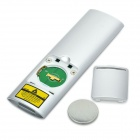 2.4GHz Wireless Red Laser Presenter w/ 2-in-1 USB Receiver / TF Card Reader - Silver (1 x CR2025)