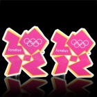 London 2012 Olympics Logo Pattern Decal Sticker - Violet (2-Sheet Pack)