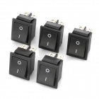 Electrical Power Control On/Off Rocker Switches (5-Piece Pack)
