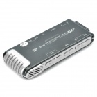 "1.0"" LED Digital Voice Recorder w/ MP3 Player - Black + Silver (4GB)"