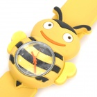Cartoon Bee Style Silicone Band Quartz Wrist Watch - Yellow + Black (1 x SR626)