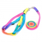 Adjustable Multi-Colored Strap Pet Dog Leash
