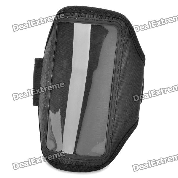 Sports Gym Arm Band Case for Samsung Galaxy Nexus i9250 - Black sunshine sports velcro protective arm bag for samsung galaxy s5 i9600 red black