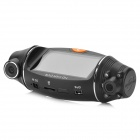 "2.0MP CMOS Dual Lens Wide Angle Car DVR Camcorder w/ 4-IR Night Vision / TF (2.7"" LCD)"