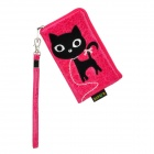 Fashionable S.CUTE Mobile Phone Carrying Bag/Pouch - Rosy + Black