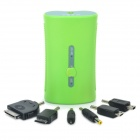 External 5200mAh Emergency Power Charger w/ 1-LED Light / 6 Charging Adapters for Cell Phone - Green