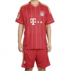 New Season Jersey Shirt & Shorts Set for Bayern Munich Team - Red + Yellow (Size L)