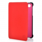 Protective Leather Case for Samsung Galaxy P6800 - Red + Black
