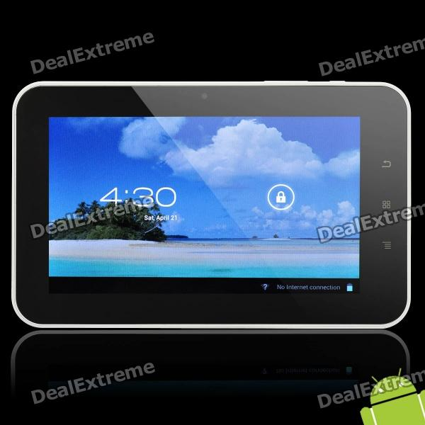 "7"" Capacitive Touch Screen Android 4.0 Tablet w/ WiFi / HDMI / TF - Black + White (A10 / 1.5GHz)"