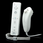 Wired Nunchuck Controller + Wireless Remote Controller w / MotionPlus für Wii - Weiß