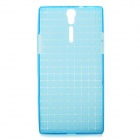 ROCK Magic Cube Soft TPU Back Case for Sony Xperia S LT26i - Transparent Blue