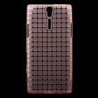 ROCK Magic Cube Soft TPU Back Case for Sony Xperia S LT26i - Transparent Pink