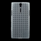 ROCK Magic Cube Soft TPU Back Case for Sony Xperia S LT26i - Transparent White