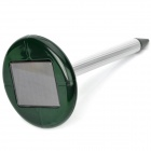 Solar Powered Ultrasonic Mouse Repeller - Green + Silver