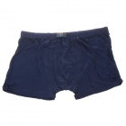 Men's Soft Bamboo Charcoal Fiber Anion Energy Boxer Brief Underwear - Dark Blue (Size XXXL)