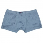 Men's Soft Bamboo Charcoal Fiber Anion Energy Boxer Brief Underwear - Dusty Blue (Size XXXL)