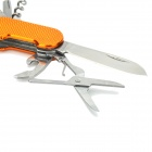 7-in-1 Portable Tool w/ Knife / Scissors / Opener / 2 Screwdriver / Wine Opener / Nail File - Golden