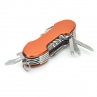 11-in-1 Portable Tool w/ Scissors / Opener / Wood Saw / Screwdriver / Knife / File + More - Orange