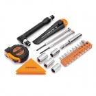 PICASSO PS-J002 22-in-1 Screwdriver + Tape + Leveler + Knife Tools Kit