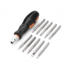 PICASSO PS-A003 11-in-1 Detachable Tips Screwdriver Kit - Orange + Black