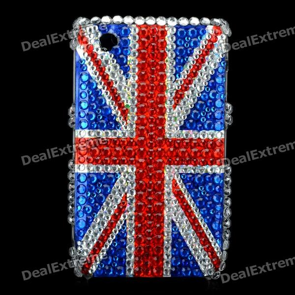 England Flag Style Protective Crystal Case for Blackberry 8520 / 8530 - Blue + Red fashion butterfly pattern acrylic diamond protective case for blackberry 8520 8530 silver blue