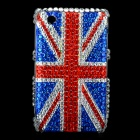 England Flag Style Protective Crystal Case for Blackberry 8520 / 8530 - Blue + Red
