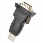 USB to RS232 Serial Port Adapter w/ USB M/F Cable - Black