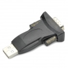 USB para RS232 Serial Port Adapter w / USB M / F Cabo - Preto
