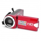 720p 3.0MP Digital Video Camera Camcorder - Red (2.7