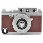 Vintage Leica Camera Style Protective ABS Back Case w/ Tripod for iPhone 4 / 4S - Brown