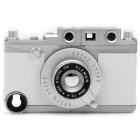 Vintage Leica Camera Style Protective ABS Back Case w/ Tripod for iPhone 4 / 4S - White