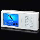 "TEANA ISING 2.4"" TFT LCD MP3 Player Karaoke Speaker w/ TF / 3.5mm Audio Jack - White"
