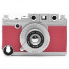 Vintage Leica Camera Style Protective ABS Back Case w/ Tripod for iPhone 4 / 4S - Red