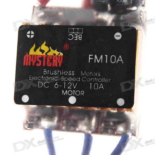 Mystery BEC ESC for Brushless Motors (2601-10A FM10A 6~12V) mystery speed controller 50a bec for brushless motors 300 450 r c helicopters