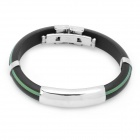 Stainless Steel Pressure Reduction Magnetic Bracelets Bangles - Black + Green