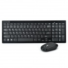Bondidea K80 2,4 GHz Wireless-99-Key Keyboard & Mouse Set - Schwarz (2 x AAA / 2 x AAA)