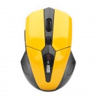 2.4GHz 800 / 1600DPI Wireless Optical Mouse - Yellow (2 x AAA)
