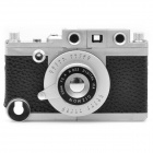 Vintage Leica Camera Style Protective ABS Back Case w/ Tripod for iPhone 4 / 4S - Black
