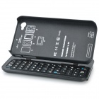 Bluetooth V3.0 Slide-Out 50-Key Keyboard Hard Case for Apple iPhone 4/4S - Black
