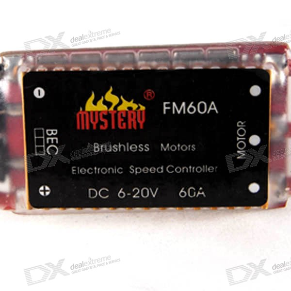 Mystery BEC ESC for Brushless Motors (2601-60A FM60A 6~12V) mystery speed controller 60a bec for brushless motors on r c helicopters