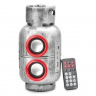 Cool Gas Jar Style MP3 Player Speaker w/ FM / SD / USB - Silver