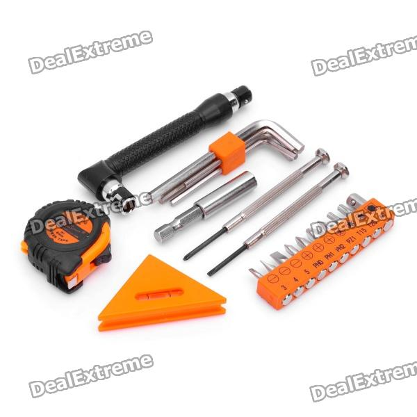 PICASSO PS-J001 21-in-1 Screwdriver + Hex Wrench + Tape + Leveler Tools Kit picasso ps a002 9 in 1 detachable screwdriver tools kit